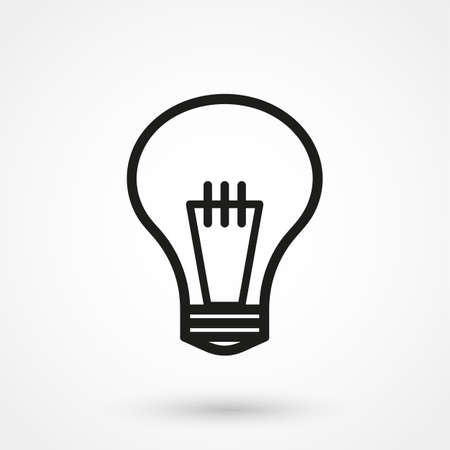bulb icon: bulb icon vector Illustration