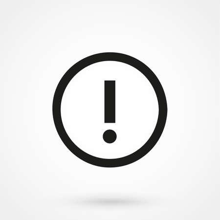 interjection: Attention icon vector black Illustration