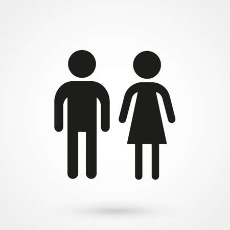 compliant: man and woman icon vector