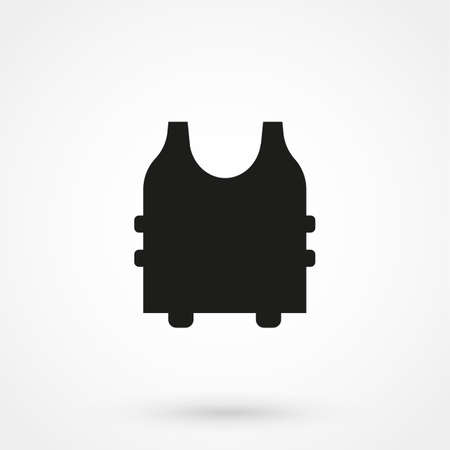 bullet proof: Bullet Proof Vest icon vector