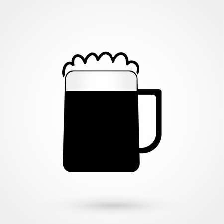 guinness: Glass of beer icon vector Illustration