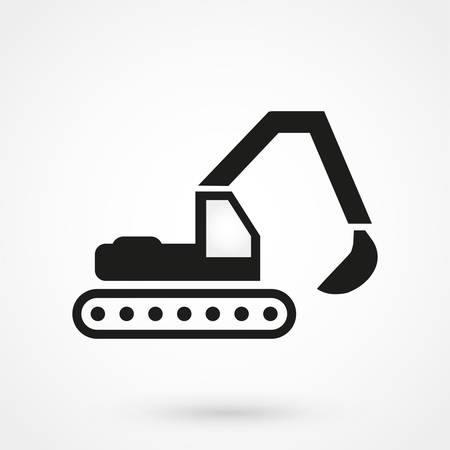 skid steer loader: excavator icon vector