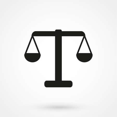 Vector icon of justice scales