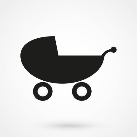 perambulator: Baby Carriage icon.