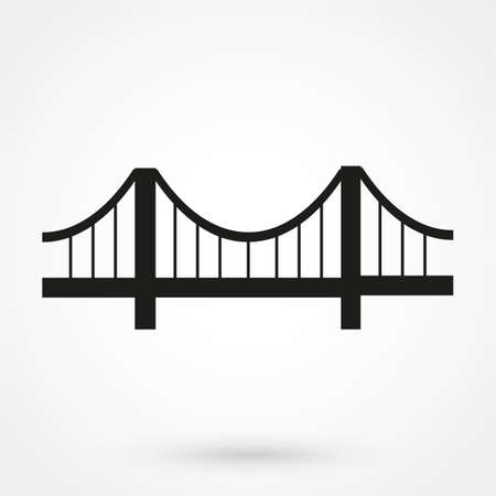 brug pictogram Stock Illustratie