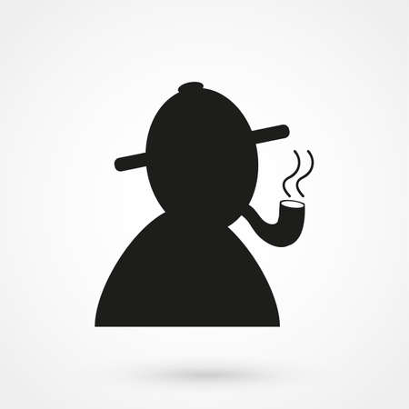 snoop: detective icon Illustration