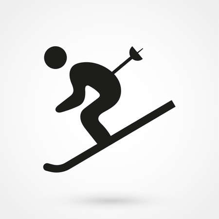 ski icon 向量圖像