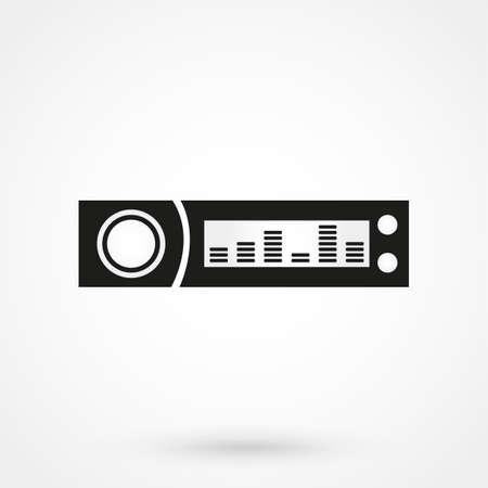 Car radio icon