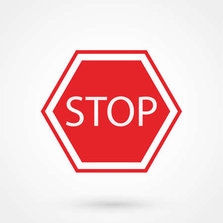 drive ticket: Stop Sign Icon Illustration