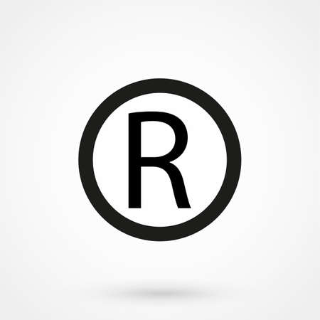 Registered Trademark symbol Vectores