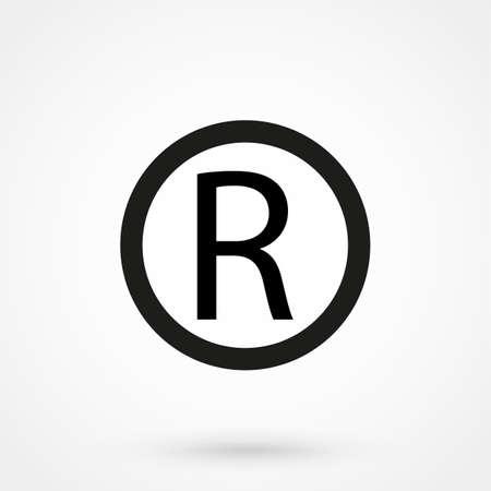 Registered Trademark symbol Vettoriali