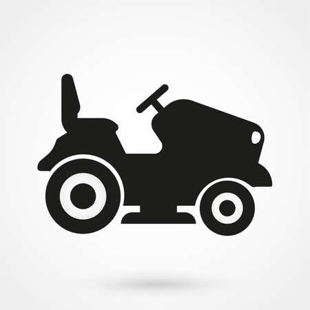 tracteur à gazon icône