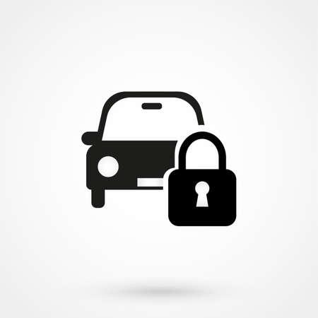 car lock: car lock icon