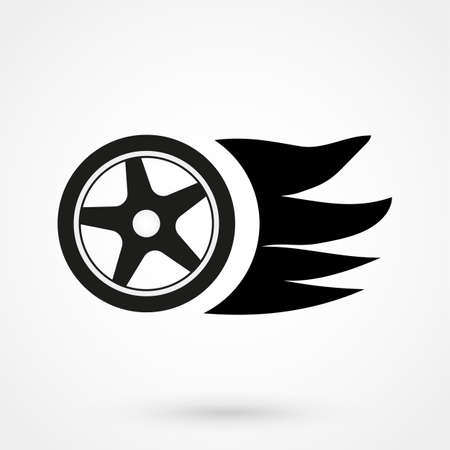 skid: Burning wheel icon
