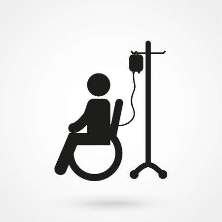 intravenous drip: patient icon Illustration