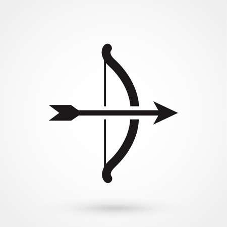 bull s eye: bow and arrow icon