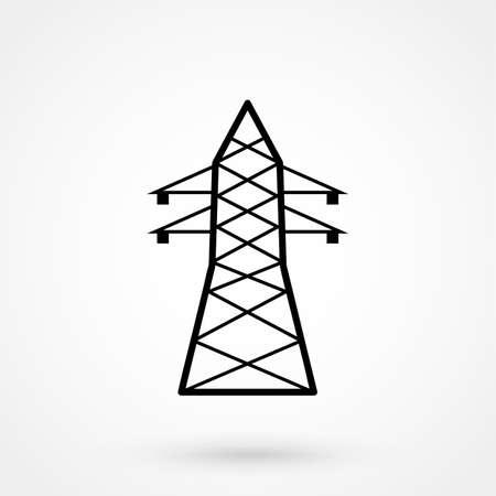 voltage gray: Electricity icon Illustration