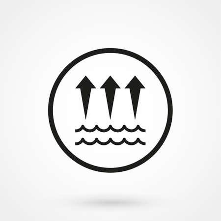 evaporacion: icono de la evaporación del agua Vectores