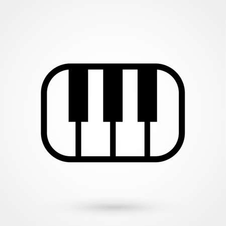 octave: piano icon Illustration