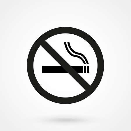smoldering: No smoking sign vector Illustration