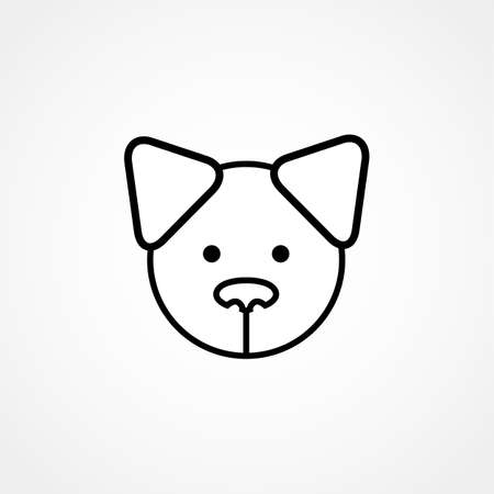 licking: dog head icon