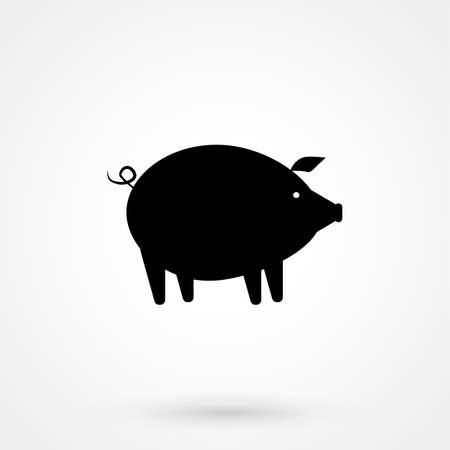 pig Icon isolated on background Illustration