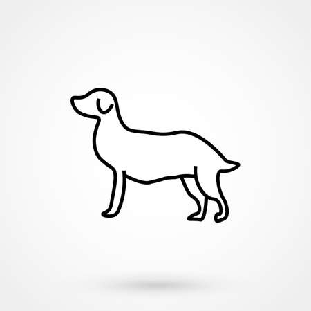 mongrel: Dog icon simple design on a white background. Vector illustration