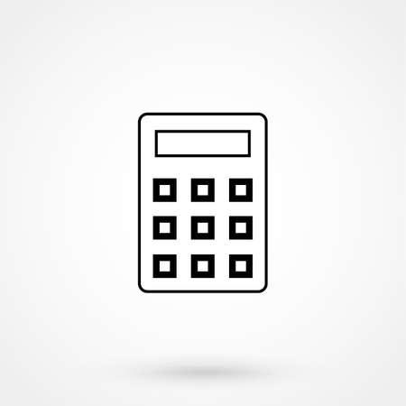 calculator icon: calculator icon simple design on a white background. Vector illustration