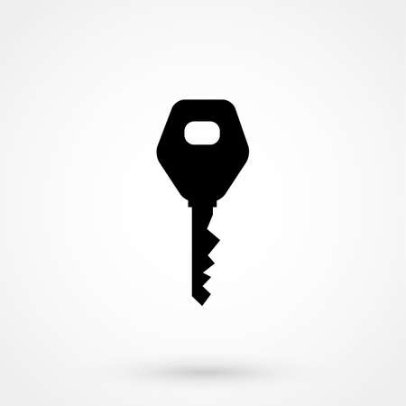 remote lock: car key icon simple design on a white background. Vector logo illustration