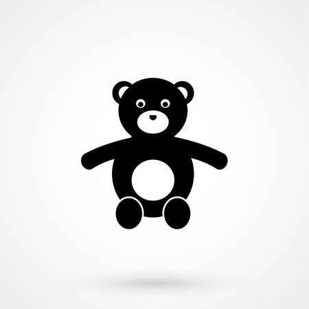 huggable: Teddy Bear icon Illustration