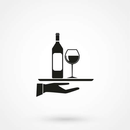 Wine icon Vector Illustration on the white backdrop