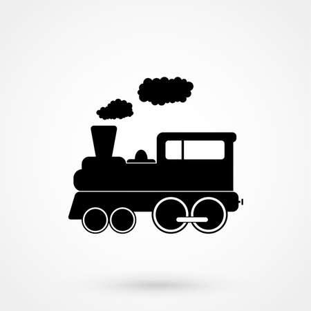 trein pictogram. Vector Illustratie