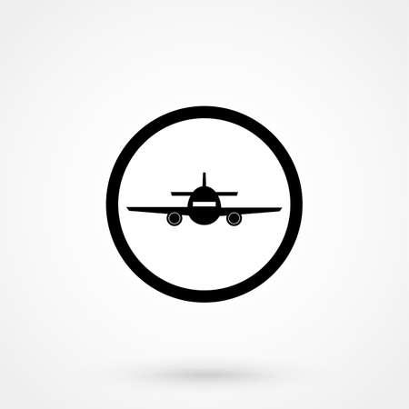 mobile website: airplane Icon illustration