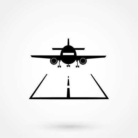 Airport icons illustration