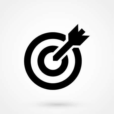 target icon on white background. Vector illustration. Vectores