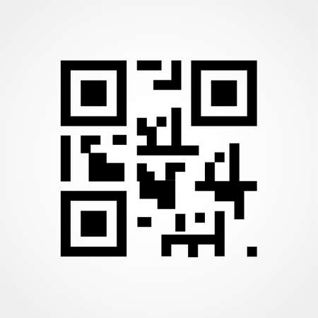 Qr code icon on white background. Vector illustration.
