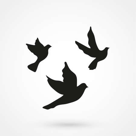 Bird crow icon on white background. Vector illustration.