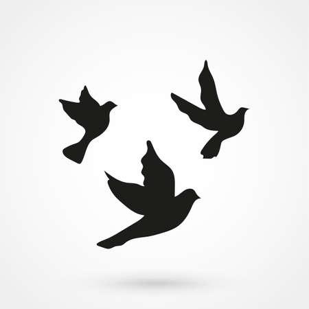 Vogel kraai pictogram op witte achtergrond. Vector illustratie. Stock Illustratie