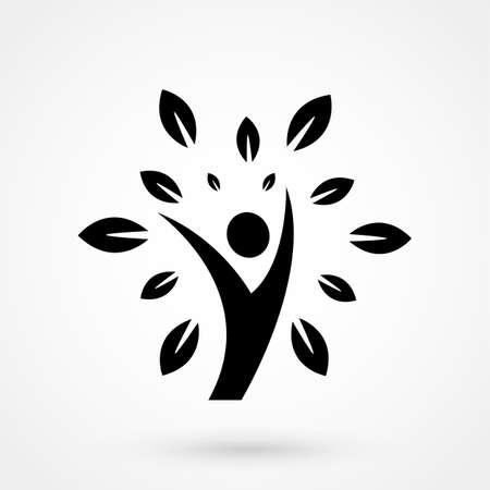 Eco people icon vector illustration. Ilustração