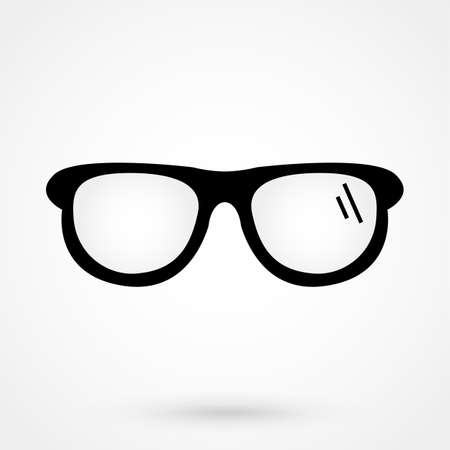 gray gradient reflection: glasses icon Vector Illustration on the white background.