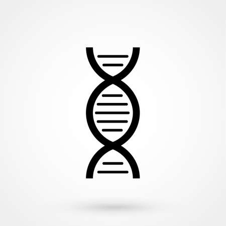 Gray DNA view icon isolated on background. Modern simple flat life sign