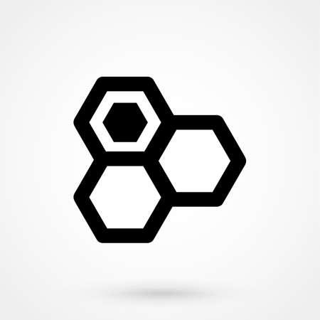 Honey icon isolated on white background. Vector art.