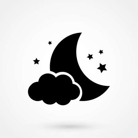 moon star icon  イラスト・ベクター素材
