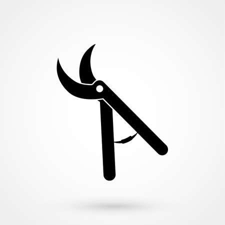 Secateurs vector icon isolated
