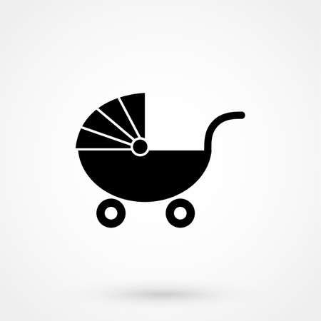Stroller vector icon Illustration
