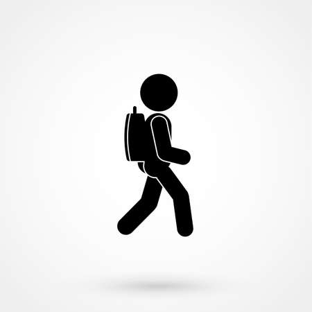 Man Backpack icon vector illustration