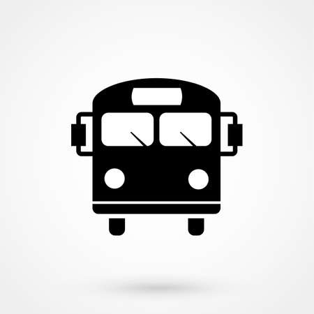 Bus icon vector, flat design best vector icon Vettoriali