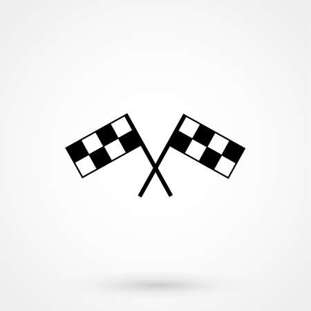 accomplish: racing flag icon Illustration