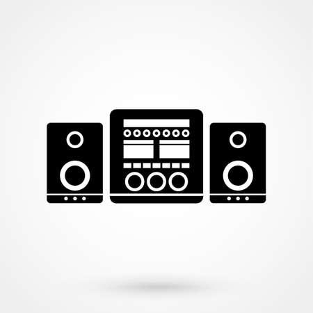 stereo system icon  イラスト・ベクター素材