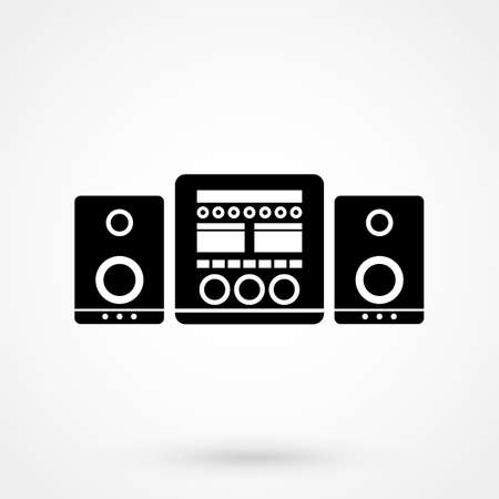 stereo system icon Illustration